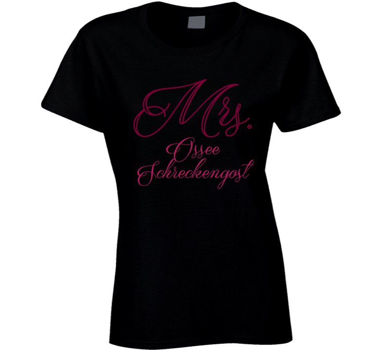 Mrs. Ossee Schreckengost Boston Baseball Player Funny Ladies T Shirt