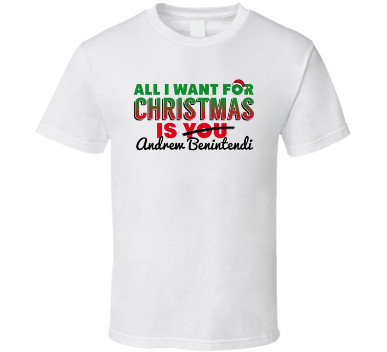 All I Want For Christmas Is Andrew Benintendi Boston Baseball Funny T Shirt