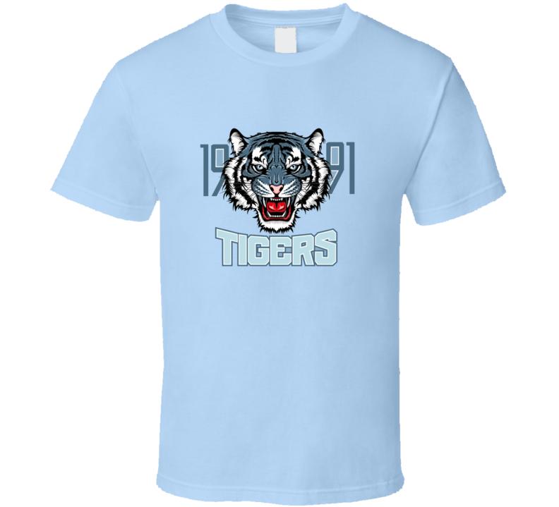 Angry Tiger Sport Team Emblem Wild Big Cat Head Aggressive Predator With Bared T Shirt