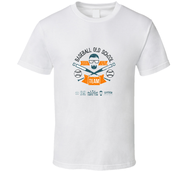 Emblem Baseball Team Graphic Design For T-shirt  Color Print On A  White Background T Shirt