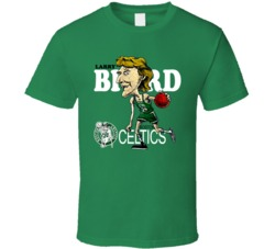 Larry Bird Retro Basketball Caricature T Shirt