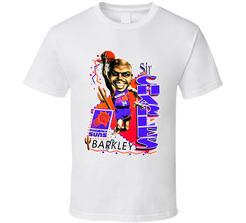 Charles Barkley Phoenix Basketball Caricature T Shirt
