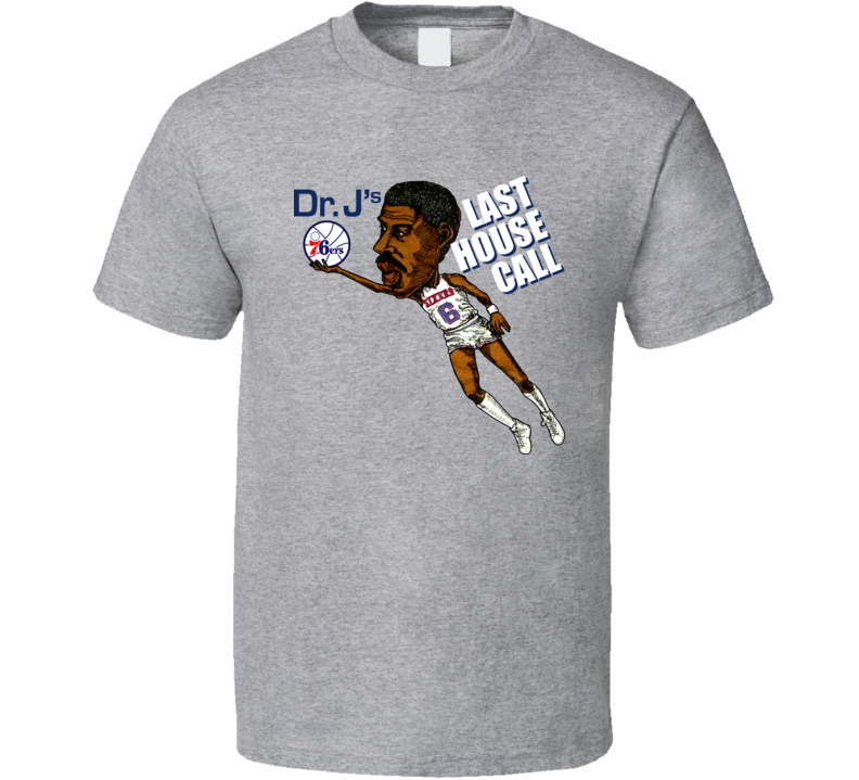 Dr J Julius Erving Basketball Caricature T Shirt