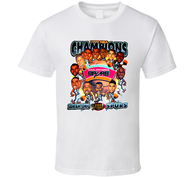 San Antonio Basketball 1999 Champions Caricature T Shirt