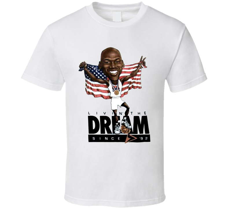 Michael Jordan Olympic Basketball Caricature T Shirt