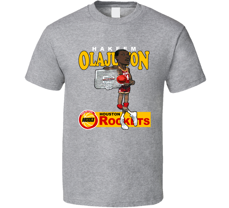 Hakeem Olajuwon Houston Basketball Caricature T Shirt