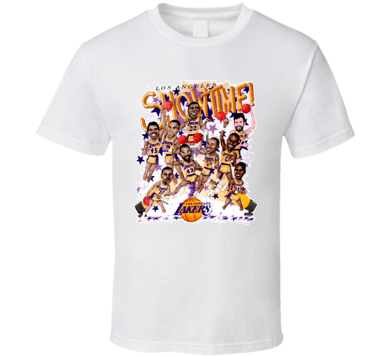Los Angeles Basketball Magic Johnson Team Caricature T Shirt