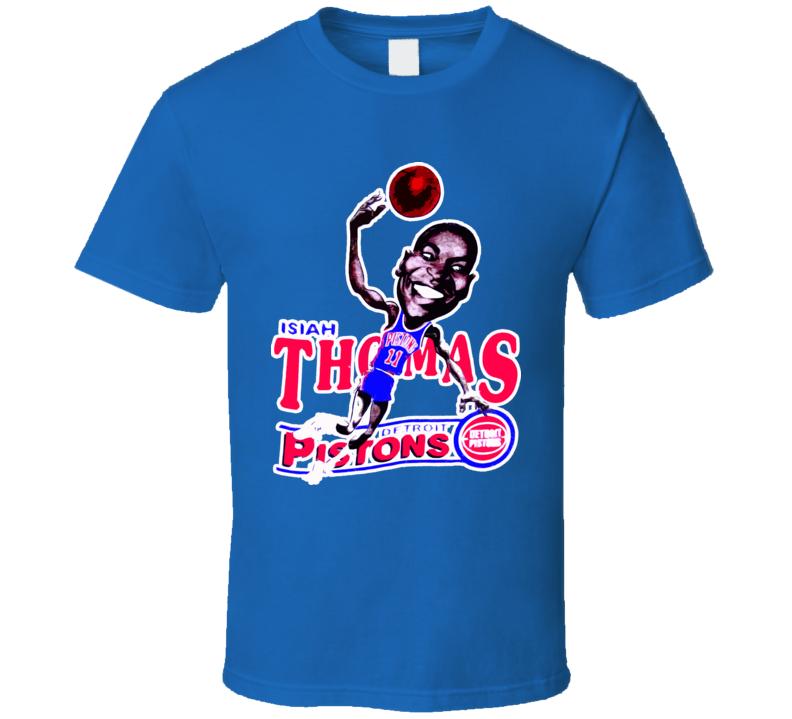 Isiah Thomas Retro Basketball Caricature T Shirt