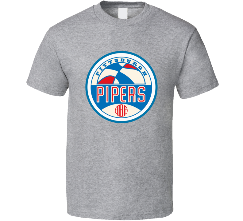ABA Pittsburgh Pipers Retro Basketball T Shirt