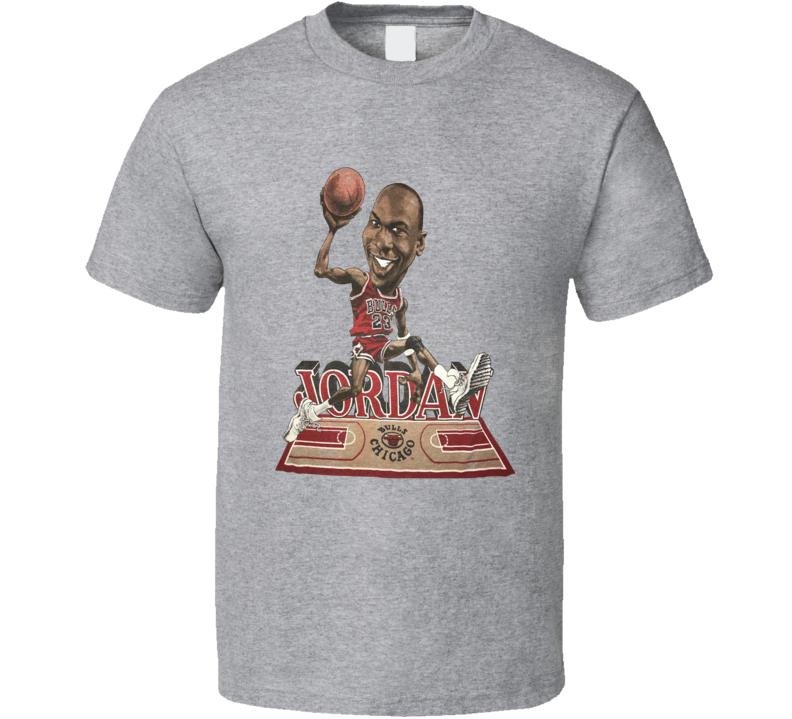 Michael Jordan Goat 23 Chicago Retro Basketball Caricature T Shirt