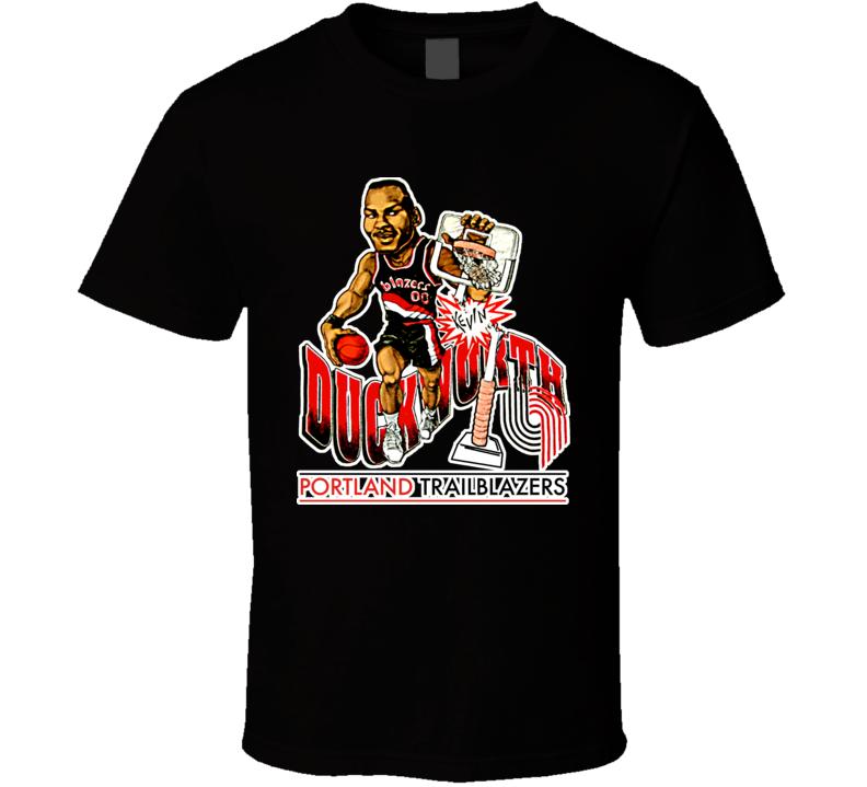 Kevin Duckworth Retro Basketball Caricature T Shirt