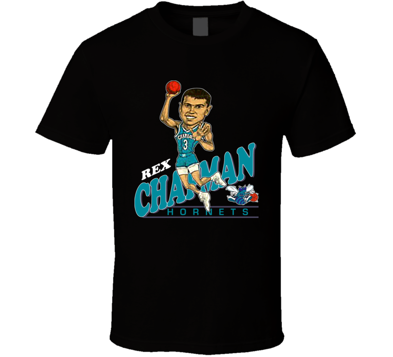 Rex Chapman Retro Basketball Caricature T Shirt