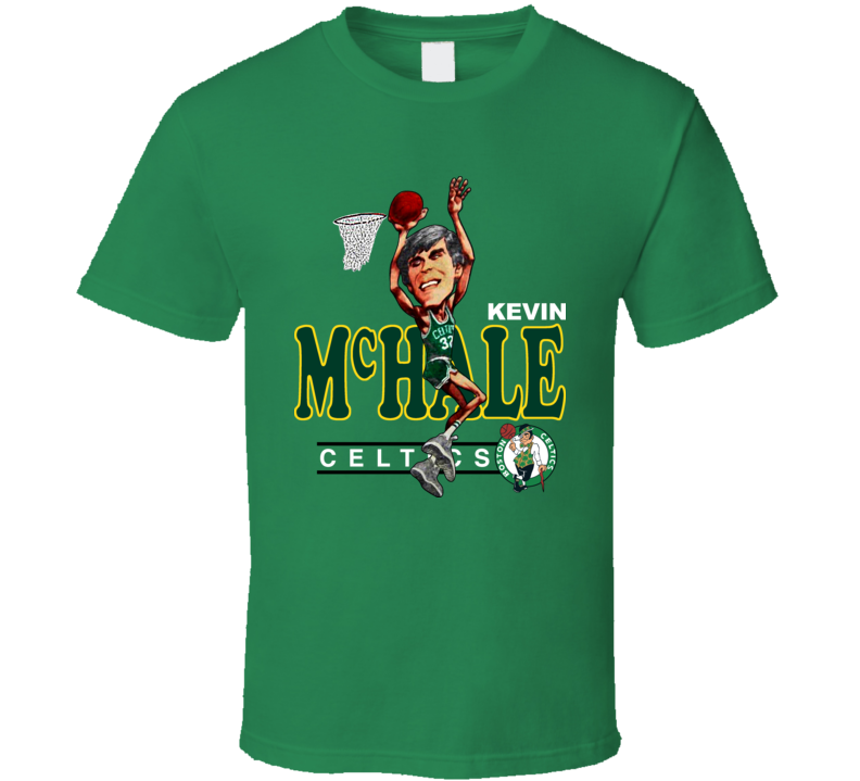 Kevin Mchale Retro Basketball Caricature T Shirt
