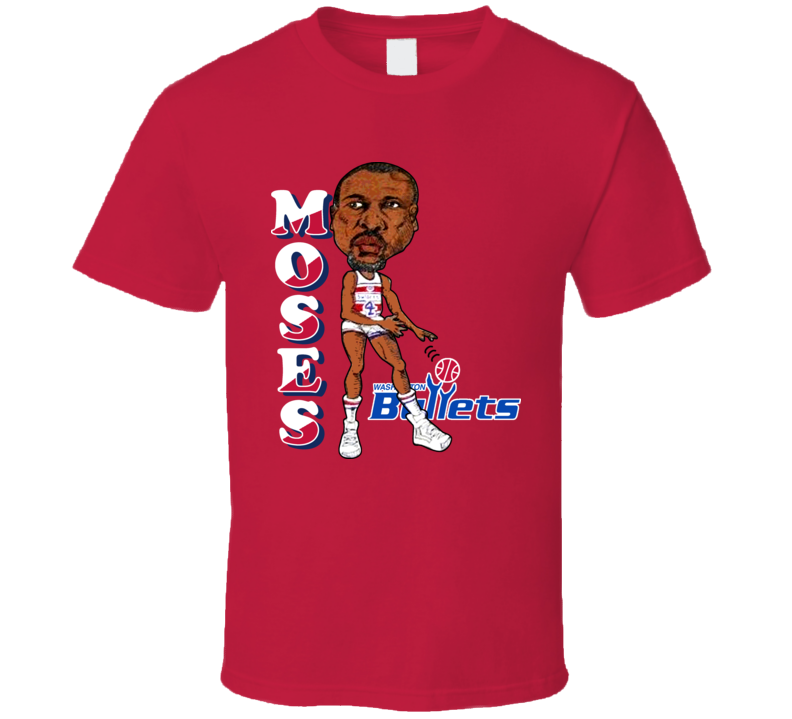 Moses Malone Retro Caricature T Shirt