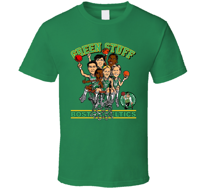 Larry Bird Boston Retro Caricature T Shirt