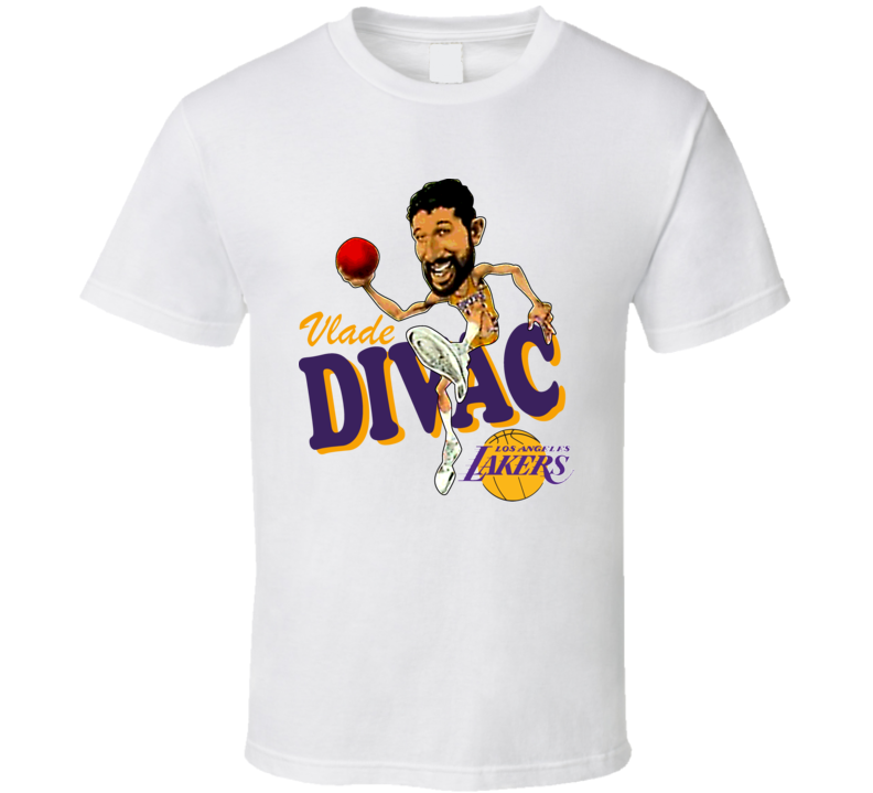 Vlade Divac Retro Basketball Caricature T Shirt