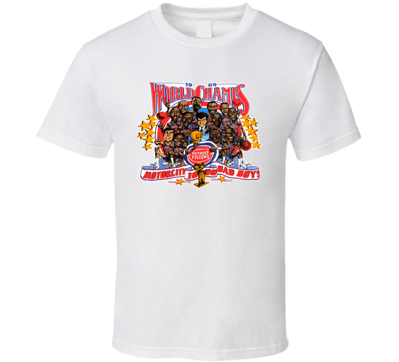 Detroit Basketball Retro Caricature T Shirt