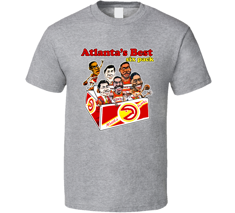 Atlanta Basketball Retro Caricature T Shirt