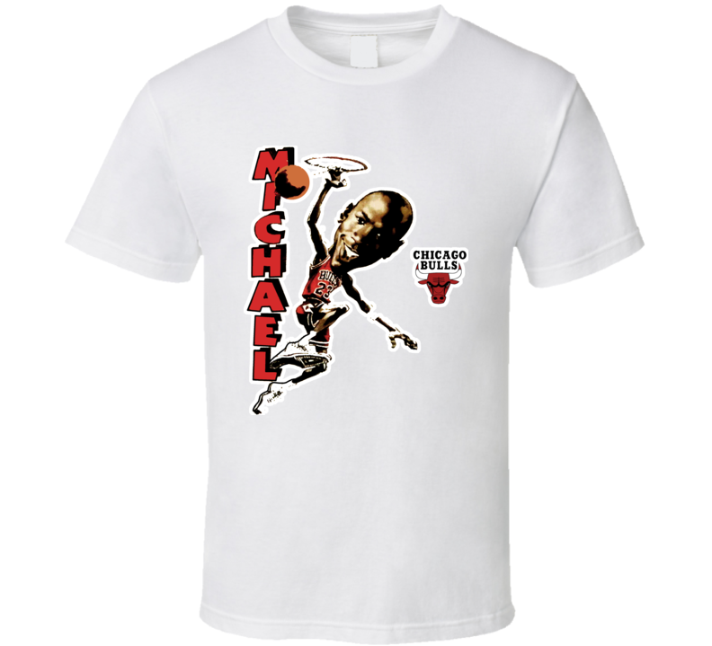 Michael Jordan Retro Basketball Caricature T Shirt