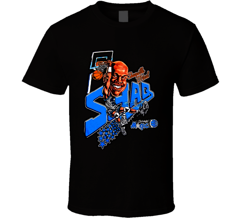 Shaquille Oneil Shaq Retro Basketball Caricature T Shirt