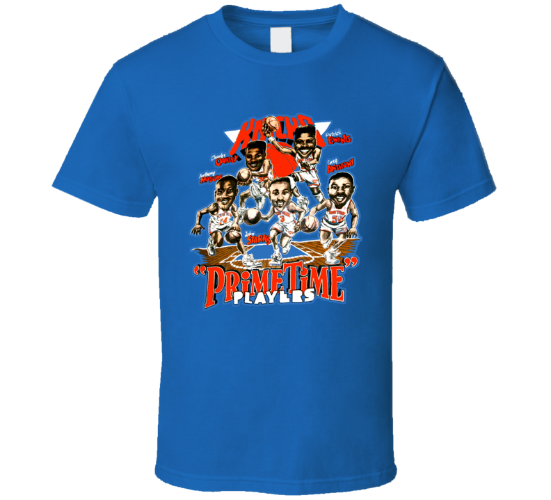 New York Basketball Caricature T Shirt