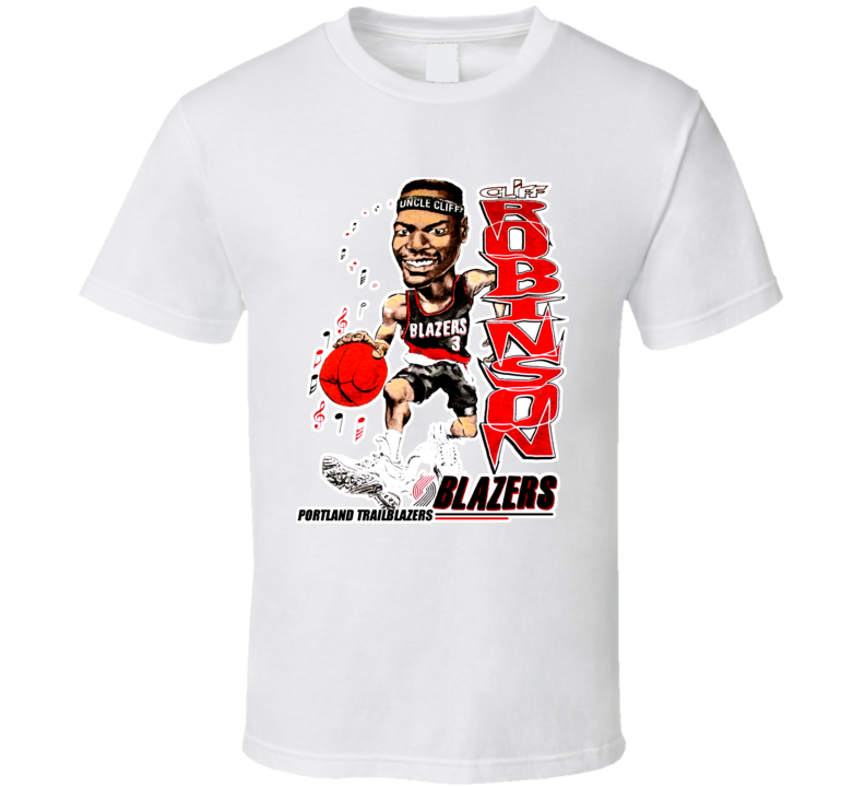 Cliff Robinson Retro Basketball Caricature T Shirt