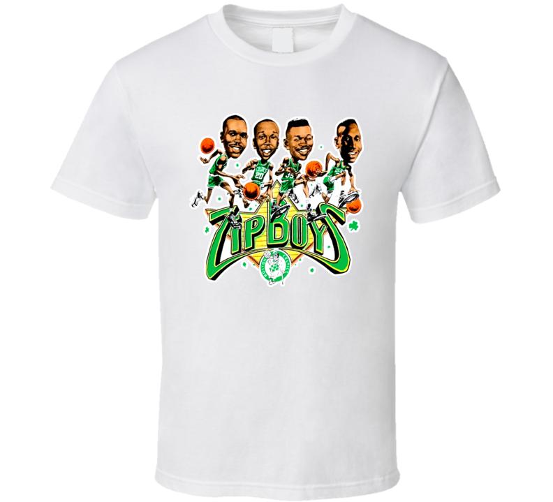 Boston Basketball Retro Caricature T Shirt