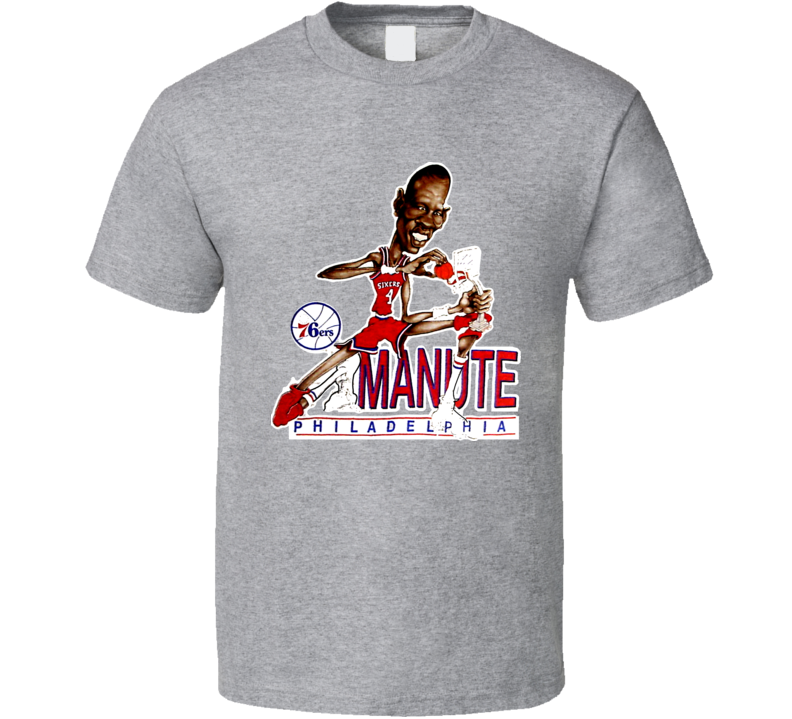 Manute Bol Philadelphia Caricature T Shirt