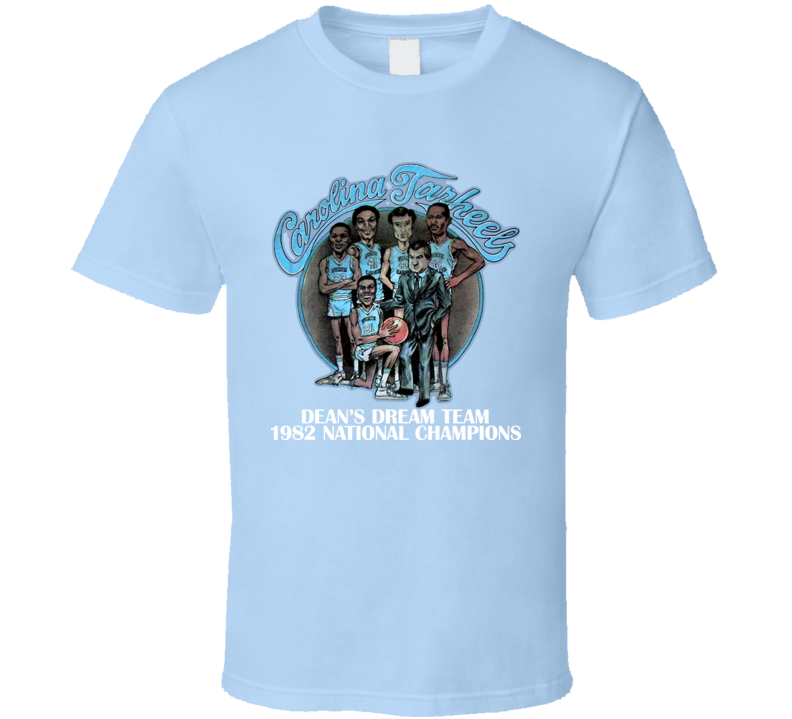 North Carolina Basketball Jordan Caricature T Shirt