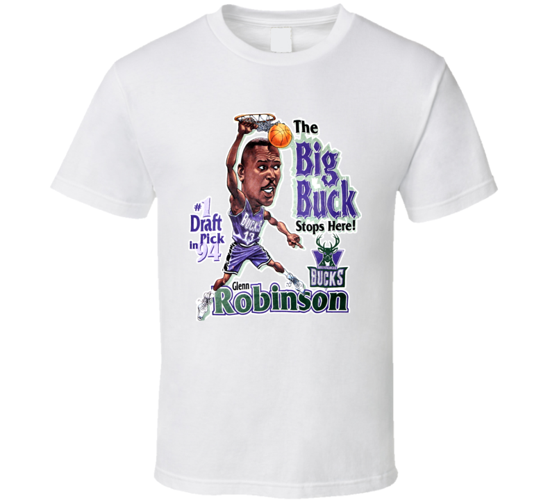 Glenn Robinson Retro Basketball Caricature T Shirt