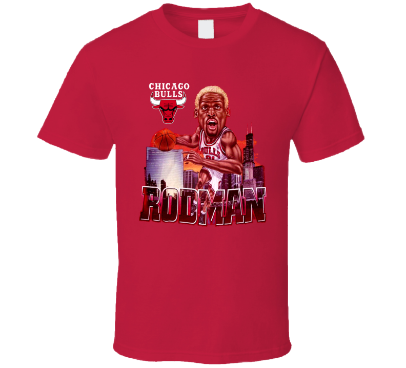 Dennis Rodman Chicago Caricature T Shirt