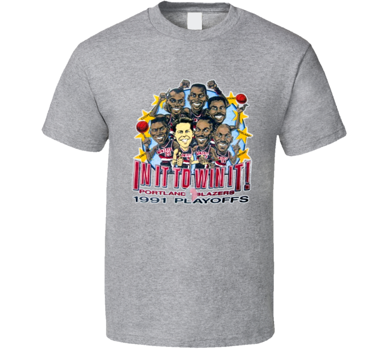 Portland Basketball Caricature T Shirt