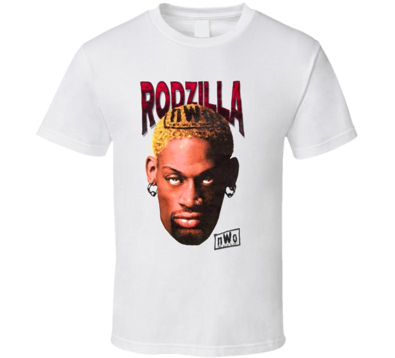 Dennis Rodman WCW NWO Rodzilla Wrestling T Shirt