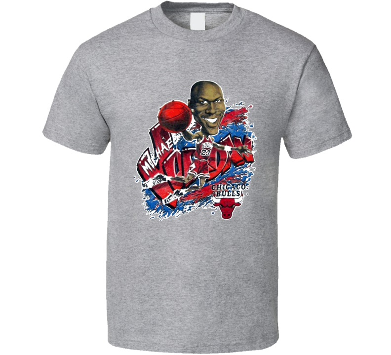 Michael Jordan Chicago Basketball Caricature T Shirt