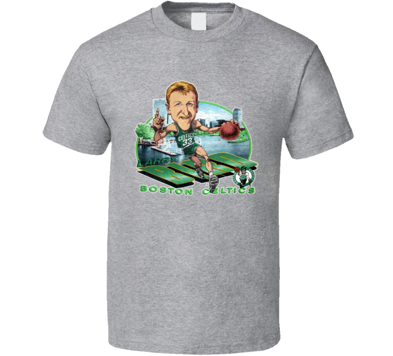 Larry Bird Larry The Legend Basketball Caricature T Shirt