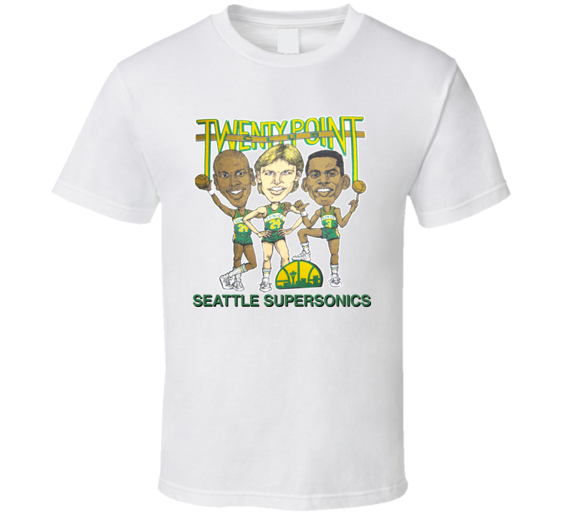 Tom Chambers Seattle Retro Basketball Caricature T Shirt