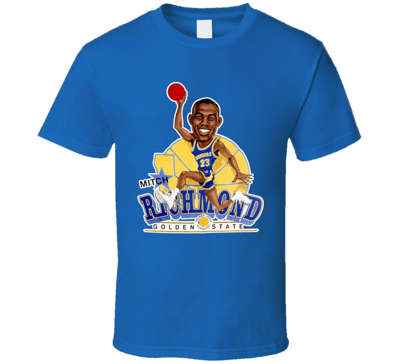 Mitch Richmond Retro Basketball Caricature T Shirt