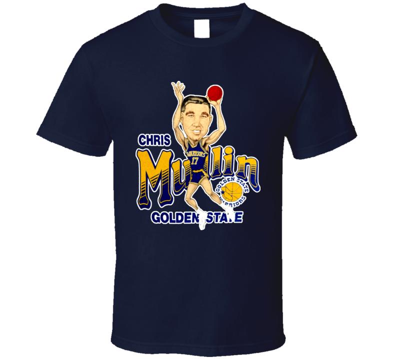 Chris Mullin Retro Basketball Caricature T Shirt