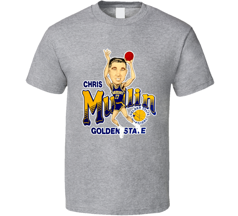 Chris Mullin Retro Basketball Caricature T Shirt