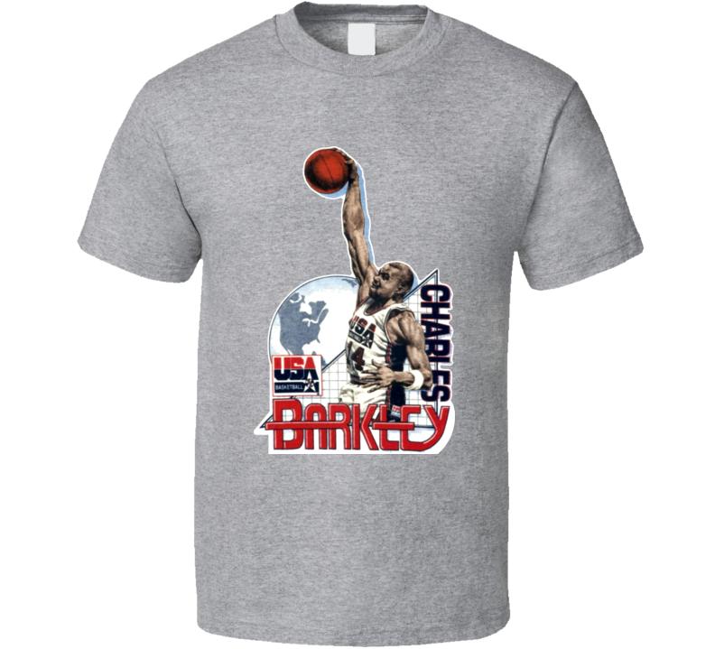 Charles Barkley USA Basketball Caricature T Shirt