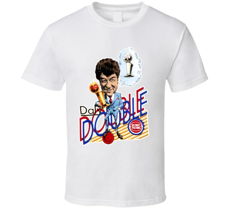 Chuck Daly 1989 Detroit Basketball Caricature T Shirt