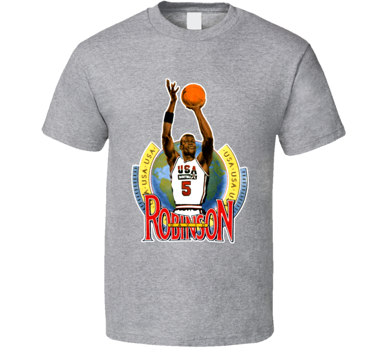David Robinson USA Basketball Caricature T Shirt