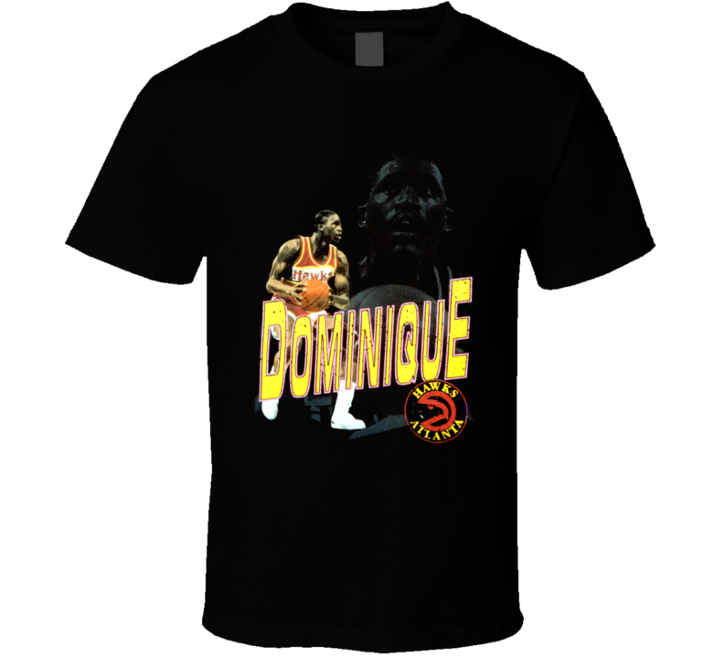 Dominique Wilkins Retro Basketball T Shirt
