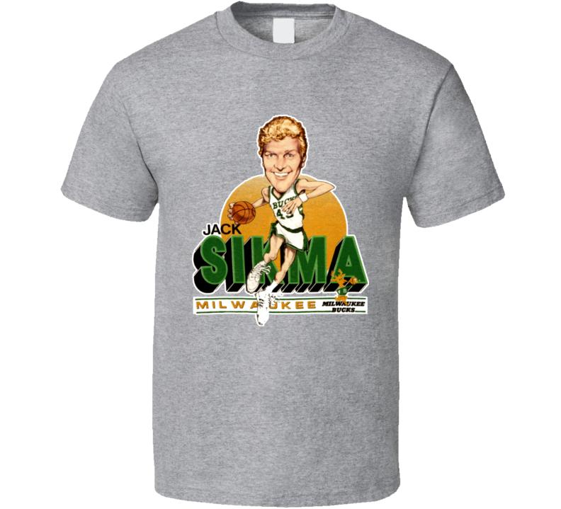 Jack Sikma Retro Basketball Caricature T Shirt