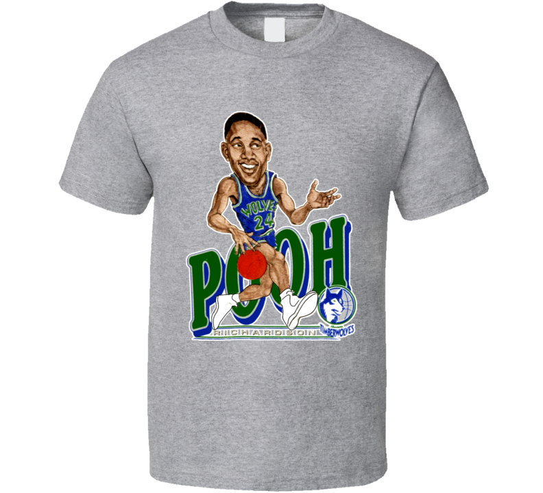 Pooh Richardson Retro Basketball Caricature T Shirt