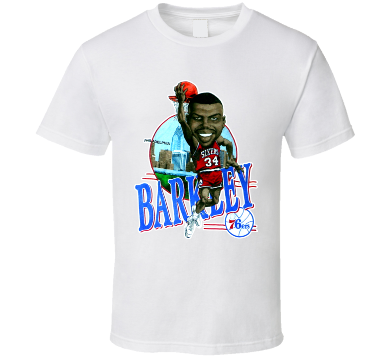 Charles Barkley Philadelphia Basketball Caricature T Shirt