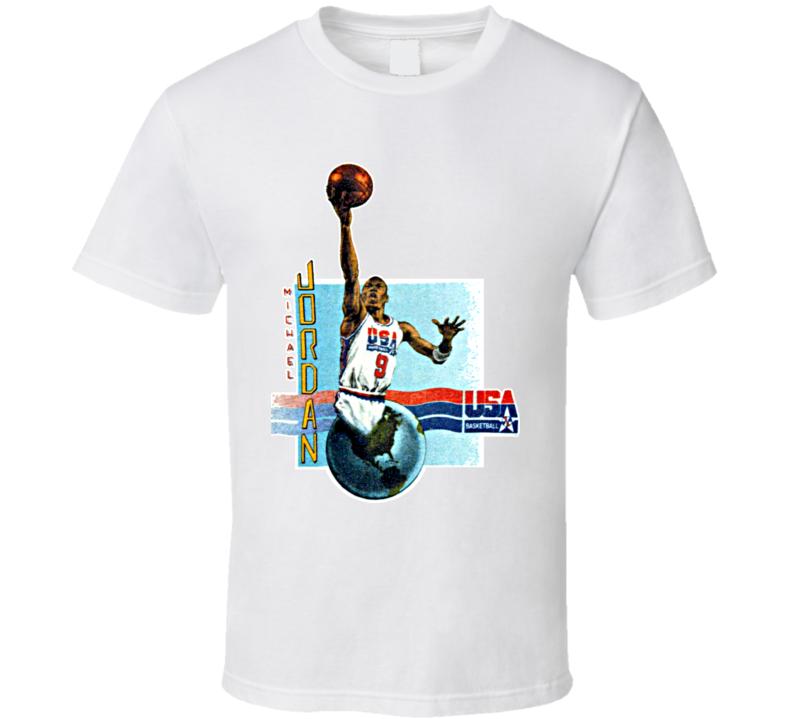 Michael Jordan USA Basketball Caricature T Shirt