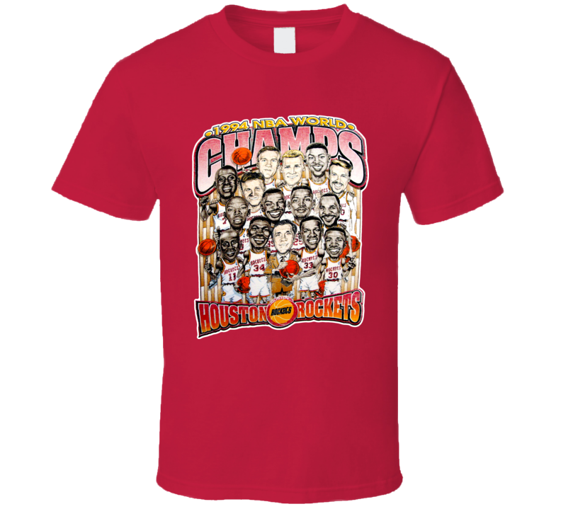 Houston Basketball 1994 Champions Caricature T Shirt