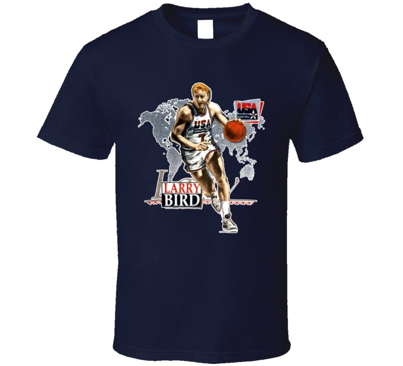 Larry Bird USA Basketball Caricature T Shirt