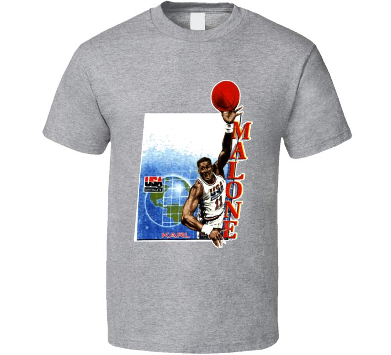 Karl Malone USA Basketball Caricature T Shirt